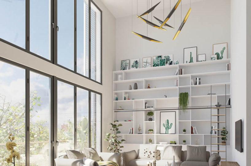 Promoció d'Obra nova de pisos i àtics al barri de Navas.